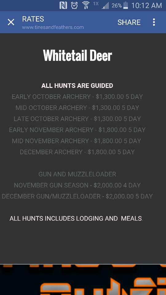 Tines and feathers outfitters llc  photo gallery