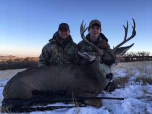 Congratulations, Eli, on your first mule deer!